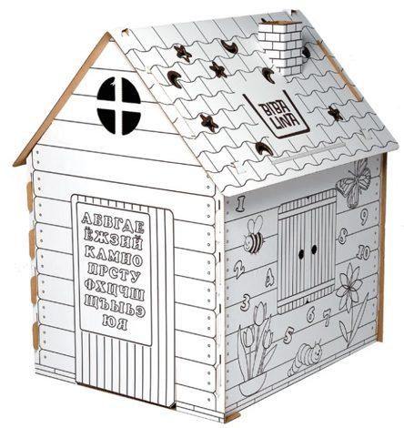 Дом-раскраска из картона Бибалина в узкой коробке купить в ...