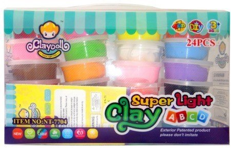 Легкий пластилин Claydoll Super Light Clay 24 цветов BR-3257