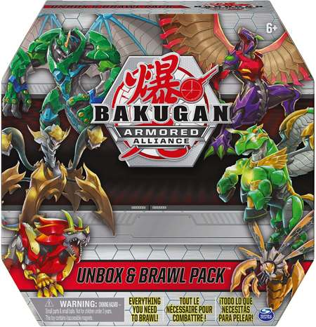Набор из 6 бакуганов Bakugan Armored Alliance Unbox and Brawl Pack 6059230