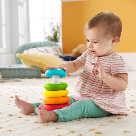 Пирамидка и сортер Blocks and Rock-a-Stack Fisher Price GRF11