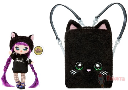 Рюкзак-спальня Na Na Na Backpack Bedroom Black Kitty